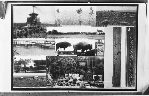 Composite photograph showing scenes near Garden City, Kansas - Page