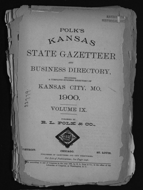 Polk's Kansas state gazetteer and business directory - Page