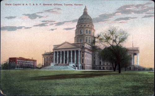 Kansas State Capitol, between 1898 and 1908