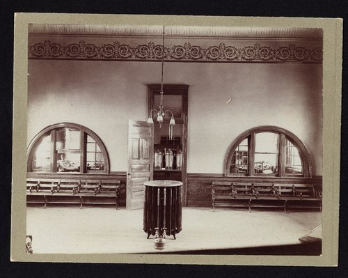 Atchison, Topeka & Santa Fe Railway Company depot waiting room, Dodge City, Kansas - Page