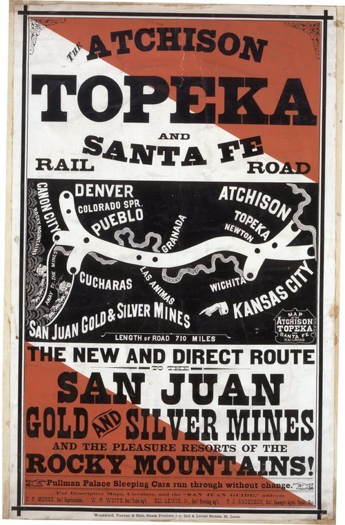 Atchison, Topeka and Santa Fe Rail Road. The new and direct route to the San Juan gold and silver mines - Page