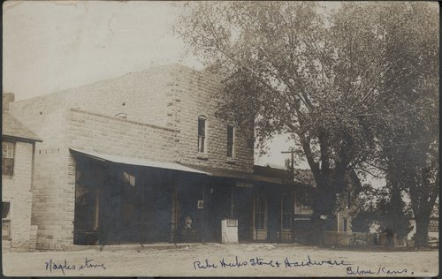 Rube Weeks' hardware store and Nagle's store, Belvue, Kansas - Page