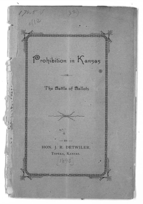 Prohibition in Kansas or the battle of ballots - Page