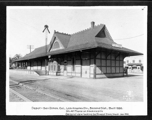 Atchison, Topeka & Santa Fe Railway Company depot, San Dimas, California - Page