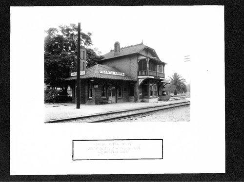 Atchison, Topeka & Santa Fe Railway Company depot, Santa Anita, California - Page