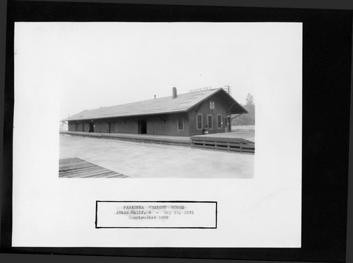 Atchison, Topeka & Santa Fe Railway Company freight house, Pasadena, California - Page