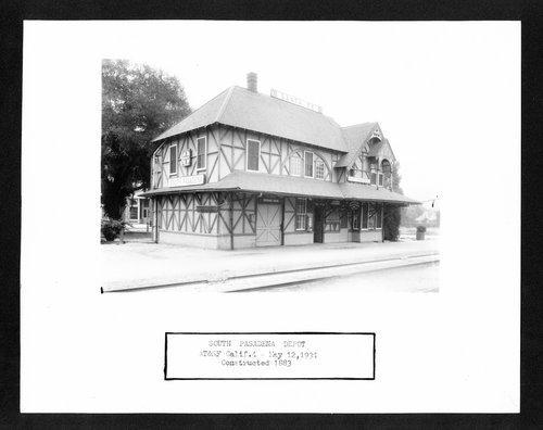 Atchison, Topeka & Santa Fe Railway Company depot, South Pasadena, California - Page