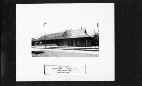 Atchison, Topeka & Santa Fe Railway Company depot, Rialto, California - Page