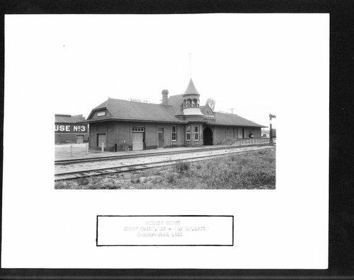 Atchison, Topeka and Santa Fe Railway Company depot, Perris, California - Page