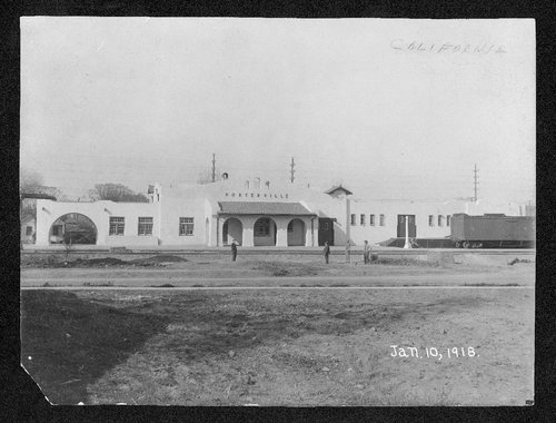 Atchison, Topeka and Santa Fe Railway Company depot, Porterville, California - Page