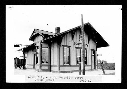 Atchison, Topeka & Santa Fe Railway Company depot, Scott City, Kansas - Page