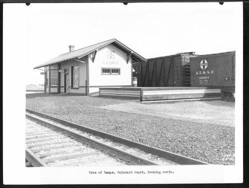 Atchison, Topeka & Santa Fe Railway Company depot, Campo, Colorado - Page