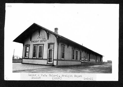 Atchison, Topeka & Santa Fe Railway Company's freight depot, Lamar, Colorado - Page