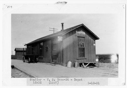 Atchison, Topeka and Santa Fe Railway Company depot, Shaffer, Kansas - Page