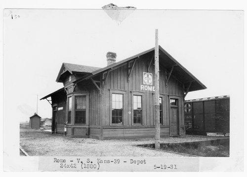 Atchison, Topeka & Santa Fe Railway Company depot, Rome, Kansas - Page