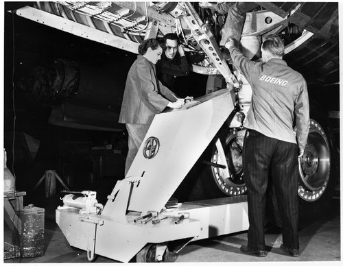 Landing gear assembly point for the Boeing B-47 Stratojet bomber - Page