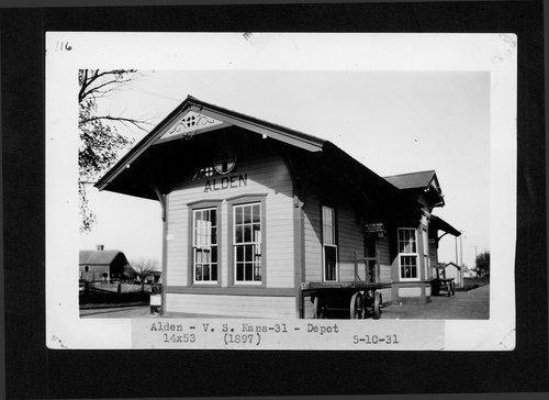 Atchison, Topeka & Santa Fe Railway Company depot, Alden, Kansas - Page