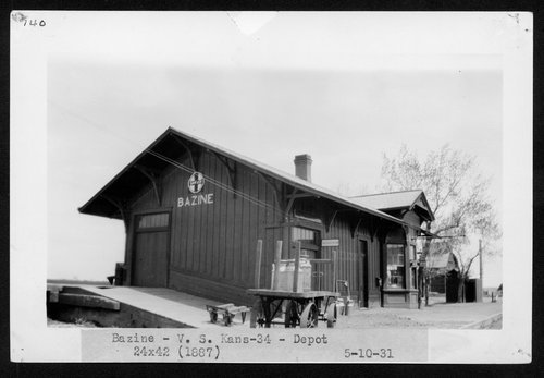 Atchison, Topeka and Santa Fe Railway Company depot, Bazine, Kansas - Page