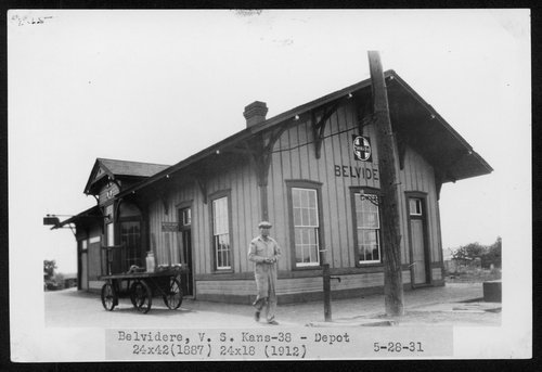 Atchison, Topeka and Santa Fe Railway Company depot, Belvidere, Kansas - Page