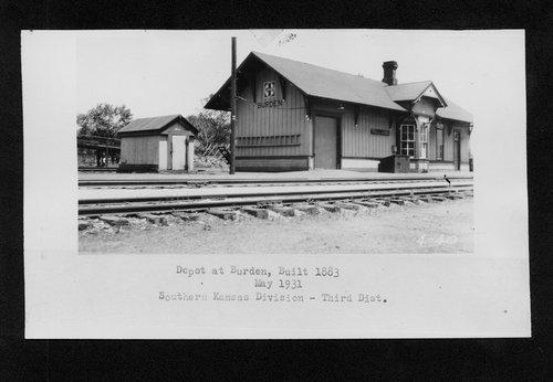 Atchison, Topeka & Santa Fe Railway Company depot, Burden, Kansas - Page