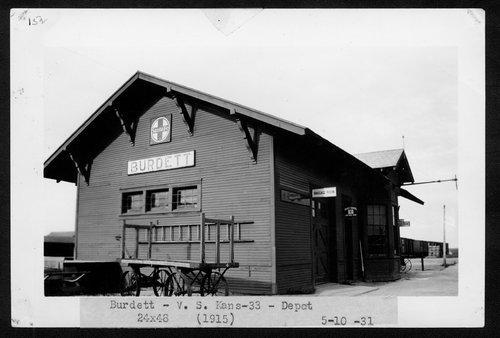 Atchison, Topeka & Santa Fe Railway Company depot, Burdett, Kansas - Page