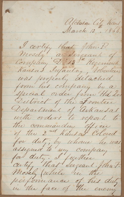 John M. Cain to Charles L. Mosley - Page