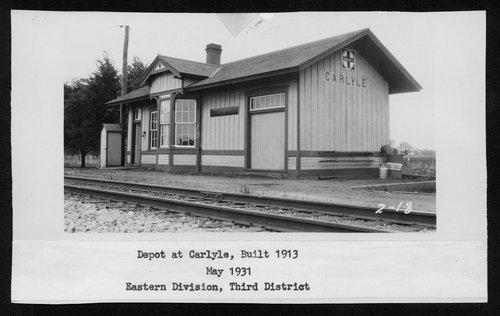 Atchison, Topeka & Santa Fe Railway Company depot, Carlyle, Kansas - Page