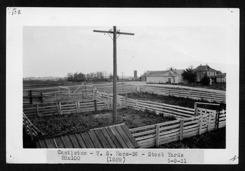 Atchison, Topeka & Santa Fe Railway Company stockyards, Castleton, Kansas - Page