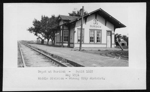 Atchison, Topeka and Santa Fe Railway Company depot, Burdick, Kansas - Page