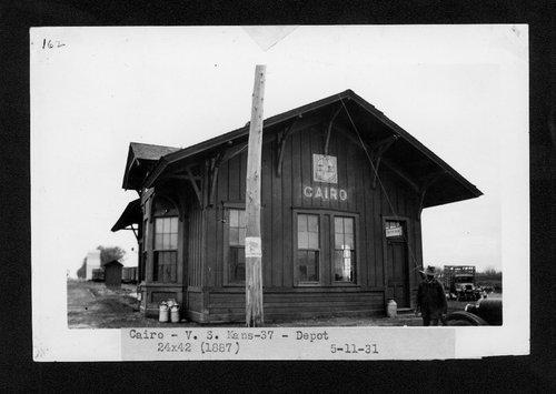 Atchison, Topeka & Santa Fe Railway Company depot, Cairo, Kansas - Page