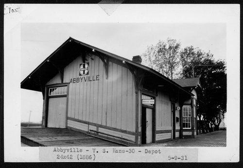 Atchison, Topeka and Santa Fe Railway Company depot, Abbyville, Kansas - Page