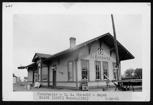 Atchison, Topeka & Santa Fe Railway Company depot, Clearwater, Kansas - Page