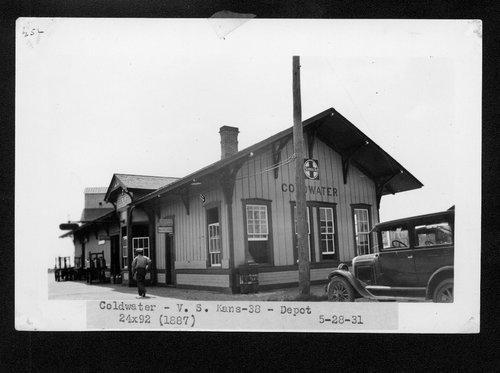 Atchison, Topeka and Santa Fe Railway Company depot, Coldwater, Kansas - Page