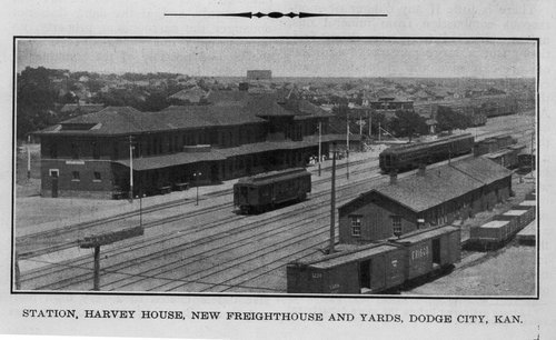 Atchison Topeka and Santa Fe Railway Company depot, Harvey House, and railroad yard, Dodge City, Kansas - Page