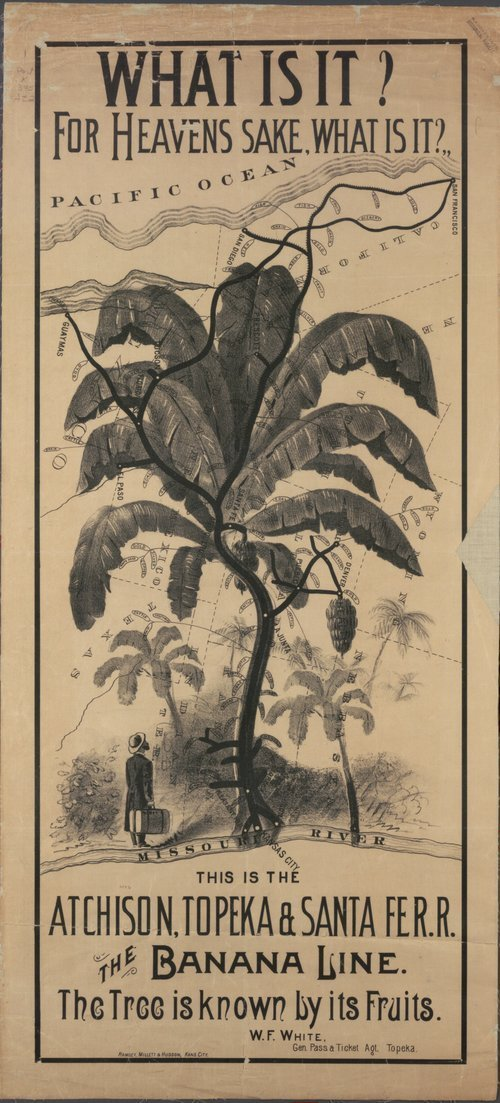 What is it? For heavens sake, what is it? -- this is the Atchison Topeka & Santa Fe R.R., the Banana Line - the tree is known by its fruits. - Page