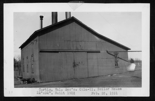 Atchison, Topeka & Santa Fe Railway Company boiler room, Curtis, Oklahoma - Page