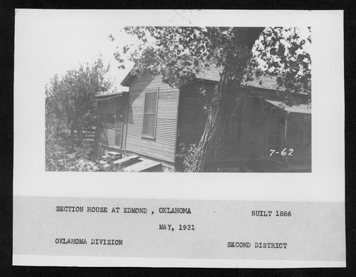 Atchison, Topeka & Santa Fe Railway Company section house, Edmond, Oklahoma - Page