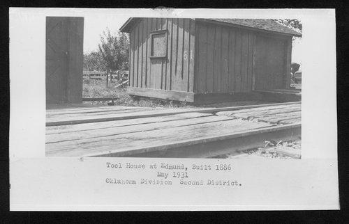 Atchison, Topeka & Santa Fe Railway Company tool house, Edmund, Oklahoma - Page