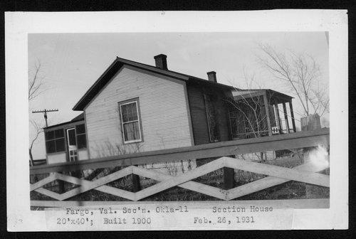 Atchison, Topeka & Santa Fe Railway Company section house, Fargo, Oklahoma - Page