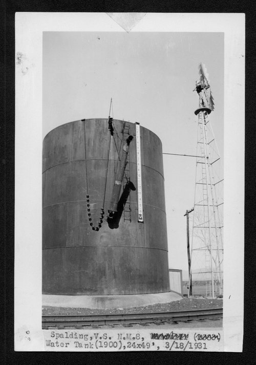 Atchison, Topeka & Santa Fe Railway Company water tank, Spalding, New Mexico - Page