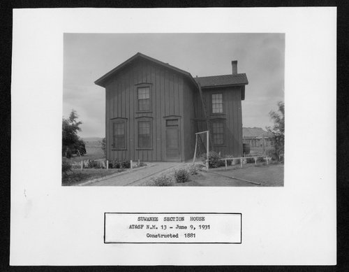 Atchison, Topeka & Santa Fe Railway Company section house, Suwanee, New Mexico - Page