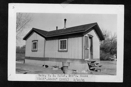 Atchison, Topeka & Santa Fe Railway Company section house, Vado, New Mexico - Page