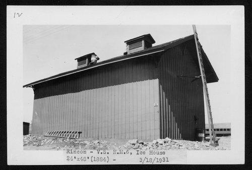 Atchison, Topeka & Santa Fe Railway Company ice house, Rincon, New Mexico - Page