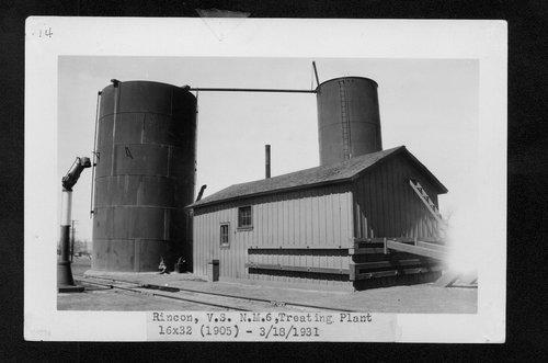 Atchison, Topeka & Santa Fe Railway Company water treating plant, Rincon, New Mexico - Page