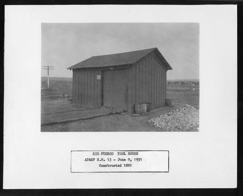 Atchison, Topeka & Santa Fe Railway Company tool house, Rio Puerco, New Mexico - Page