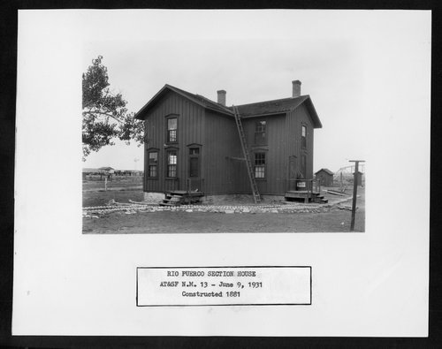 Atchison, Topeka & Santa Fe Railway Company section house, Rio Puerco, New Mexico - Page