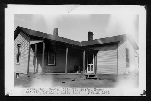 Atchison, Topeka & Santa Fe Railway Company section house, Belva, Oklahoma - Page