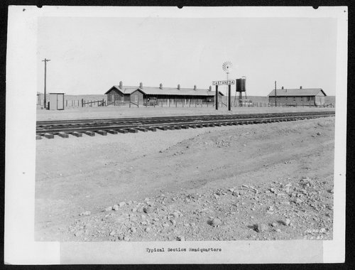 Atchison, Topeka & Santa Fe Railway Company's foreman house and section house, Casteneda, Oklahoma - Page