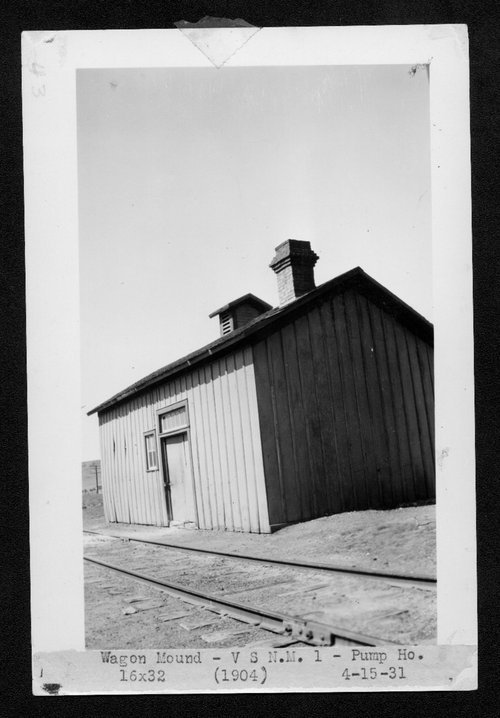 Atchison, Topeka & Santa Fe Railway Company pump house, Wagon Mound, New Mexico - Page