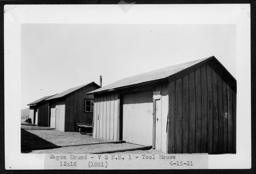 Atchison, Topeka & Santa Fe Railway Company tool house, Wagon Mound, New Mexico - Page